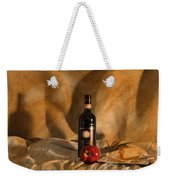 Wine With An Apple And Cheese Weekender Tote Bag