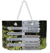 Winery Street Sign In The Sonoma California Wine Country 5d24601 Square Weekender Tote Bag