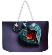 Winged Heart With Red Gem Weekender Tote Bag