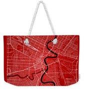 Winnipeg Street Map - Winnipeg Canada Road Map Art On Color Weekender Tote Bag