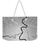 Winnipeg Street Map - Winnipeg Canada Road Map Art On Colored Ba Weekender Tote Bag