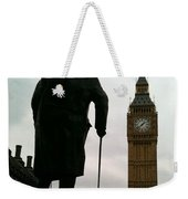 Winston Churchill Facing Big Ben Weekender Tote Bag