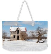Winter Abandoned Farmouse Weekender Tote Bag