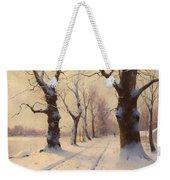 Winter Alley Weekender Tote Bag