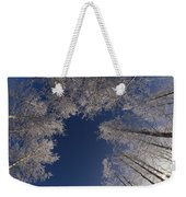 Winter Aspen Canopy Yellowstone Weekender Tote Bag
