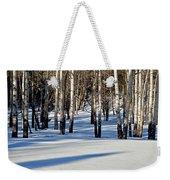Winter Aspens Weekender Tote Bag