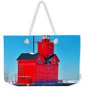 Winter At Big Red Weekender Tote Bag