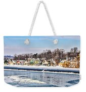 Winter At Boathouse Row In Philadelphia Weekender Tote Bag