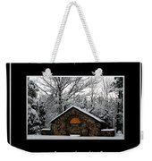 Winter At Chestnut Ridge Park Cold And Heat Bless The Lord Praise And Exalt Him Above All Forever Weekender Tote Bag