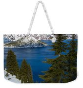 Winter At Crater Lake Weekender Tote Bag