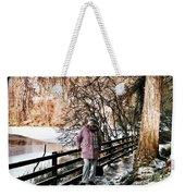 Winter At Frozen Lochside Weekender Tote Bag
