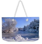 Winter At Lake Marmo Weekender Tote Bag