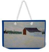 Winter At Mcphersons Barn Gettysburg Weekender Tote Bag