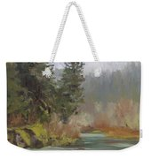 Winter At Swiftwater Weekender Tote Bag