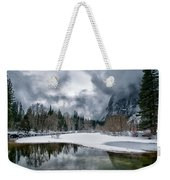 Winter At Swinging Bridge Weekender Tote Bag