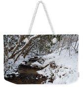 Winter At The Creek Weekender Tote Bag