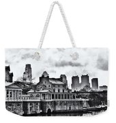 Winter At The Fairmount Waterworks In Black And White Weekender Tote Bag