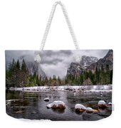 Winter At Valley View Weekender Tote Bag