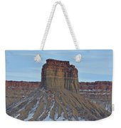 Winter Banded Butte Weekender Tote Bag