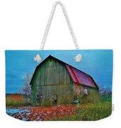 Winter Barn Weekender Tote Bag