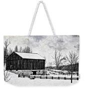 Winter Barn Impasto Version Weekender Tote Bag