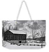 Winter Barn Monochrome Weekender Tote Bag