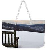 Winter Bench Weekender Tote Bag