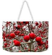 Winter Berryscape Weekender Tote Bag