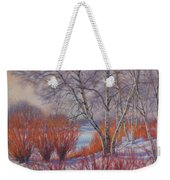 Winter Birches And Red Willows 1 Weekender Tote Bag