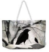 Winter Blackbirds Weekender Tote Bag