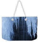 Winter Blues - Frozen Waterfall Detail Weekender Tote Bag