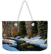 Winter Brook Weekender Tote Bag