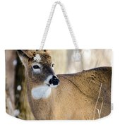Winter Buck Weekender Tote Bag by Steven Santamour