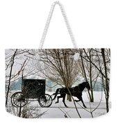 Winter Buggy Weekender Tote Bag