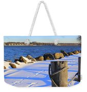 Winter By The Bay Weekender Tote Bag