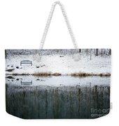 Winter By The Lake Weekender Tote Bag