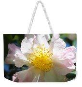 Winter Camellia Weekender Tote Bag