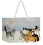 Winter Cats Weekender Tote Bag