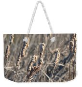 Winter Cattail Abstract Weekender Tote Bag