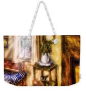 Winter - Christmas - Early Christmas Morning Weekender Tote Bag by Mike Savad
