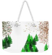 Winter Four Seasons Weekender Tote Bag