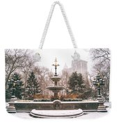 Winter - City Hall Fountain - New York City Weekender Tote Bag