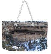 Winter Cliff Palace Weekender Tote Bag