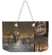 Winter Collage Weekender Tote Bag