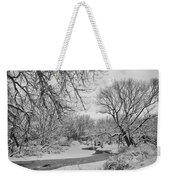 Winter Creek In Black And White Weekender Tote Bag