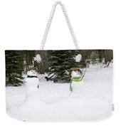 Winter Dance Of The Snow People Weekender Tote Bag