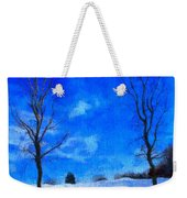 Winter Day On Canvas Weekender Tote Bag