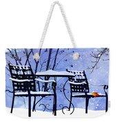 Winter Days Weekender Tote Bag