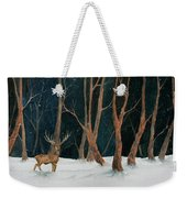 Winter Deer Weekender Tote Bag