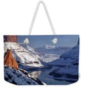 612702-winter Desert River, Ut Weekender Tote Bag